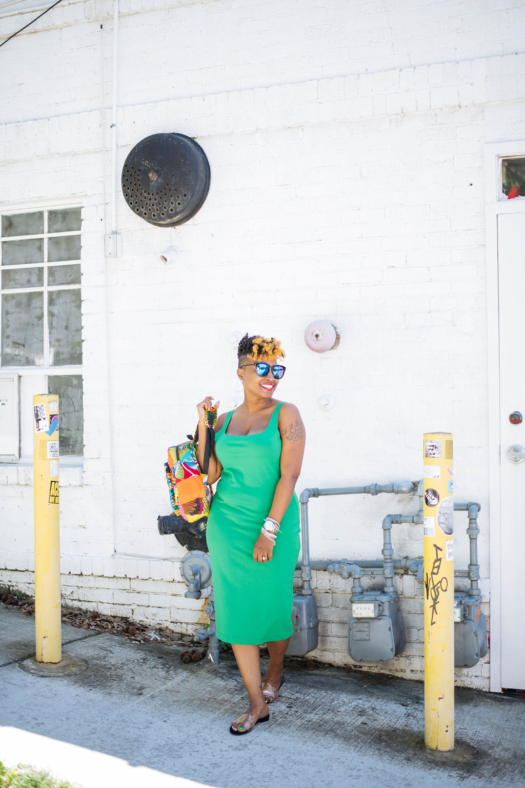 green bodycon dress, Top Atlanta blogger, Atlanta fashion, Atlanta Personal Stylist, melodiestewart.com