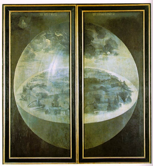 This is Bosch's triptych when closed. Click for some awesome interactive pics.