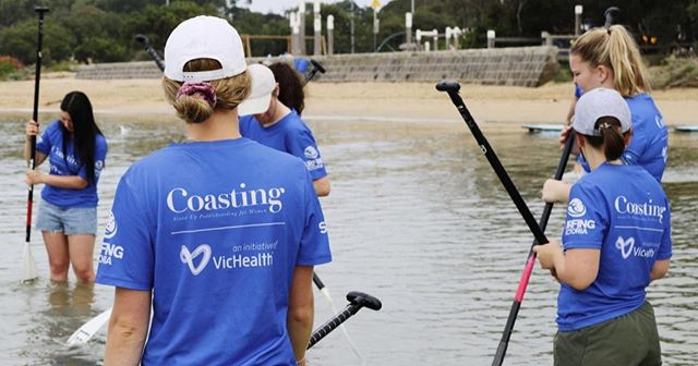 Just some gal pals going for a paddle with Coasting 🐚 #coastingsup #standuppaddle #sup #thisgirlcanvic #vichealth