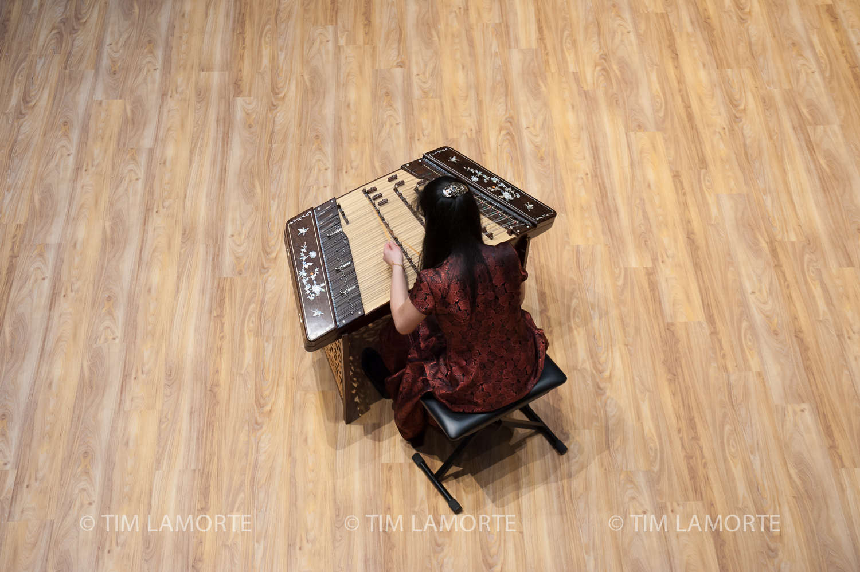 Ariane Kuo plays the Chinese dulcimer.