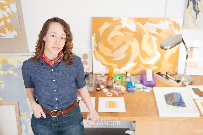 Alison Marra  at her studio in Dobbs Ferry