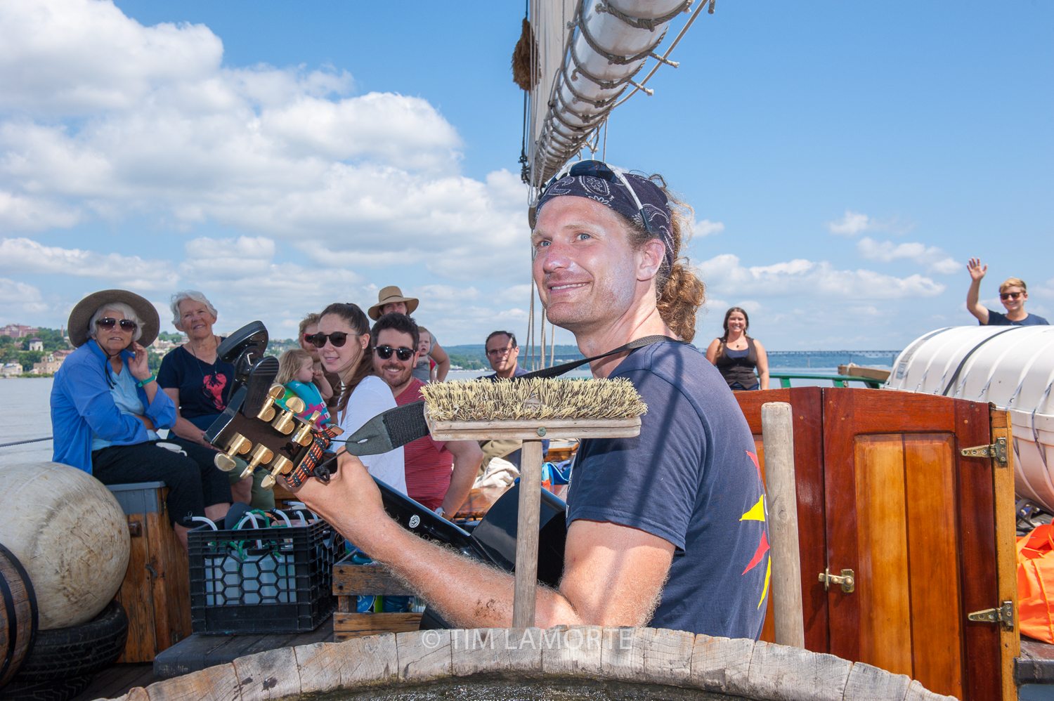 """Clearwater deckhand Ty Bleeker performs the song """"Tugboat."""""""