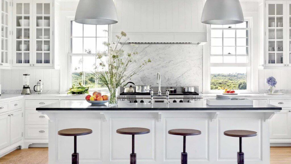 kitchen remodel cabinets island flooring lighting range hood windows stools elegant luxury kitchen BACKSPLASH tile pro city building and remodeling licensed contractor RESIDENTIAL KITCHEN