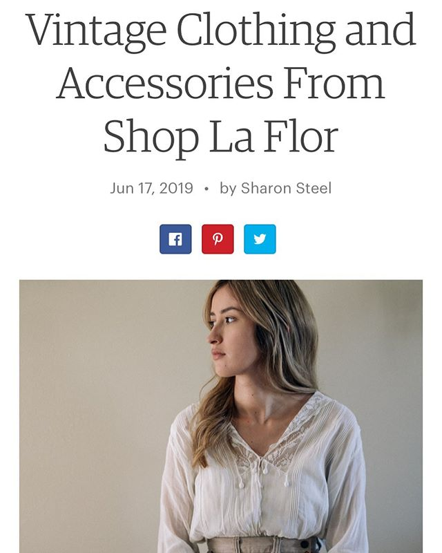 Proud best friend moment! Checkout @shoplaflor featured on @etsy blog for her vintage clothing shop✨She is such an inspiration for female run small businesses and her eye for vintage finds is like nothing I've ever seen before! I remember her dragging me around Goodwill's and vintage shops when we were kids; her passion for thrifting was so strong even back then! It's no surprise that she started a business out of it and is KILLING IT 🙌🏻 #girlboss #womenrunbusiness #etsy #womensupportingwoman