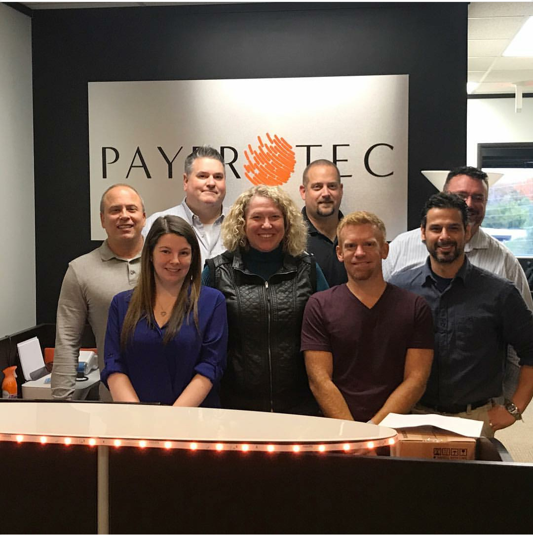 PayProTec Family Matt Hoskins - Owner(Front Row On Right) Marc Beauchamp - President(Middle Row On Left) & The Point-Of-Sale Channel Team