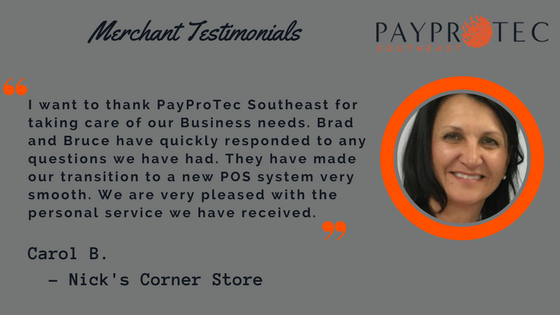 SWITCHING PROCESSORS & POS TESTIMONIAL
