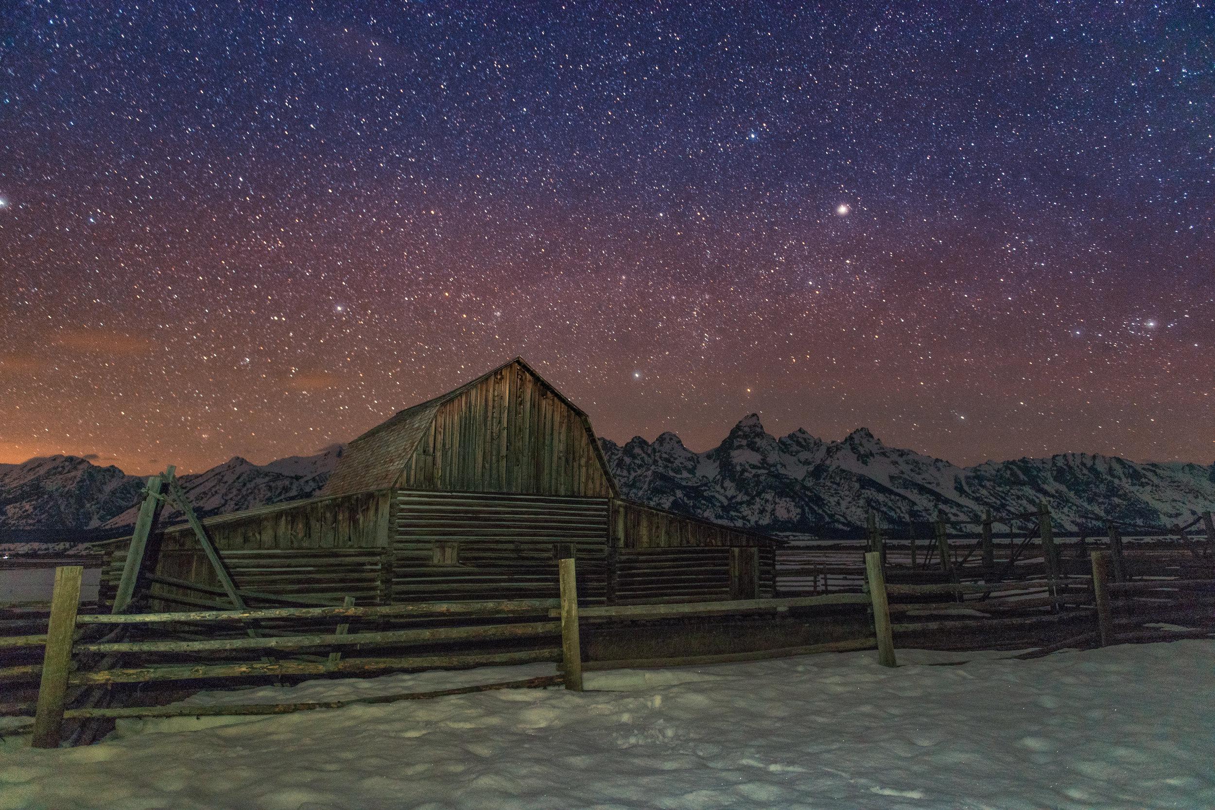 Stars at Mormon Row
