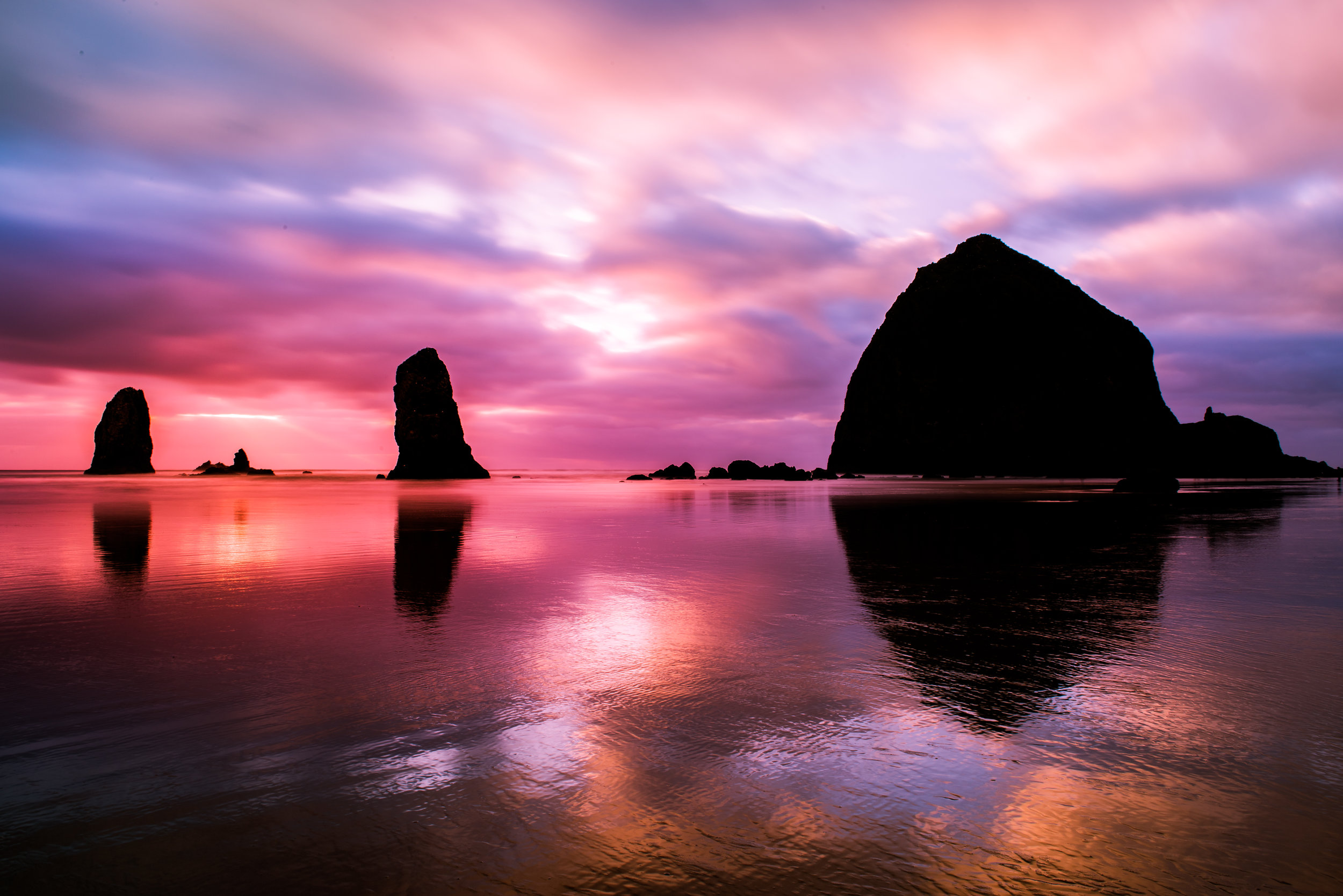 Haystack Rock and 'The Needles'