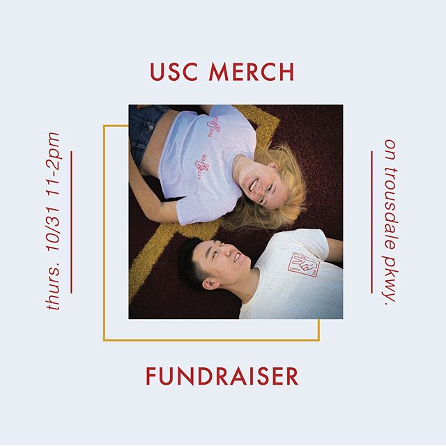 USC TAILGATING MERCH. TODAY 10/31. 11-2PM.  All funds raised will be going towards our FREE showcase on November 14th!  Come on out and show your support🧡🖤