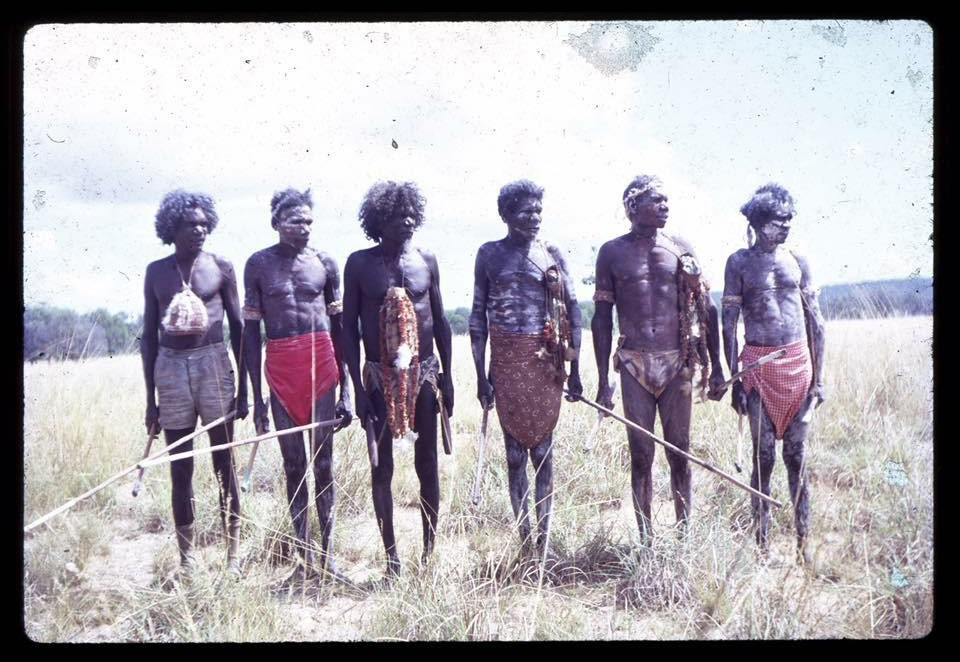 Picture: Warriors and Leaders of the Land Rights movement, the five Rirratjingu brothers Mawalan Marika, Mathaman Marika, Milirrpum Marika, Dhunggala Marika and Dadaynga 'Roy' Marika led the 13 Clans of Yirrkala to create the Yirrkala Bark Petitions, which eventuated in the great land rights case Milirrpum v NABALCO 1971.