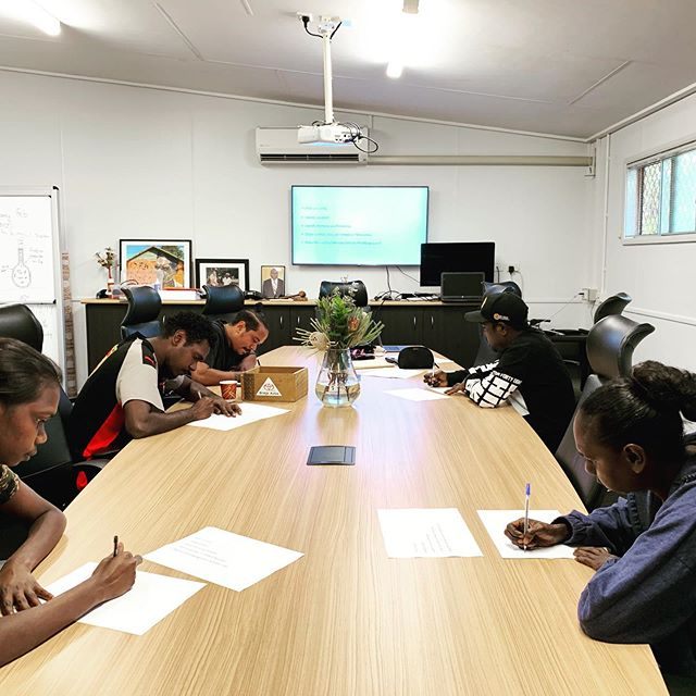 Our Leadership Program participants have been working on crafting Welcome to Country speeches 📝🗣. Learning the art of public speaking is refined through opportunities to work on this craft. Some of the themes our participants conveyed is the respect the fathers and grandfathers command through the challenge of Land Rights ✊🏾. If your organisation requires a Welcome to Country in Yirrkala or Nhulunbuy, we have a quality group of emerging leaders fit for the task. #leadership #rirratjingu #indigenous