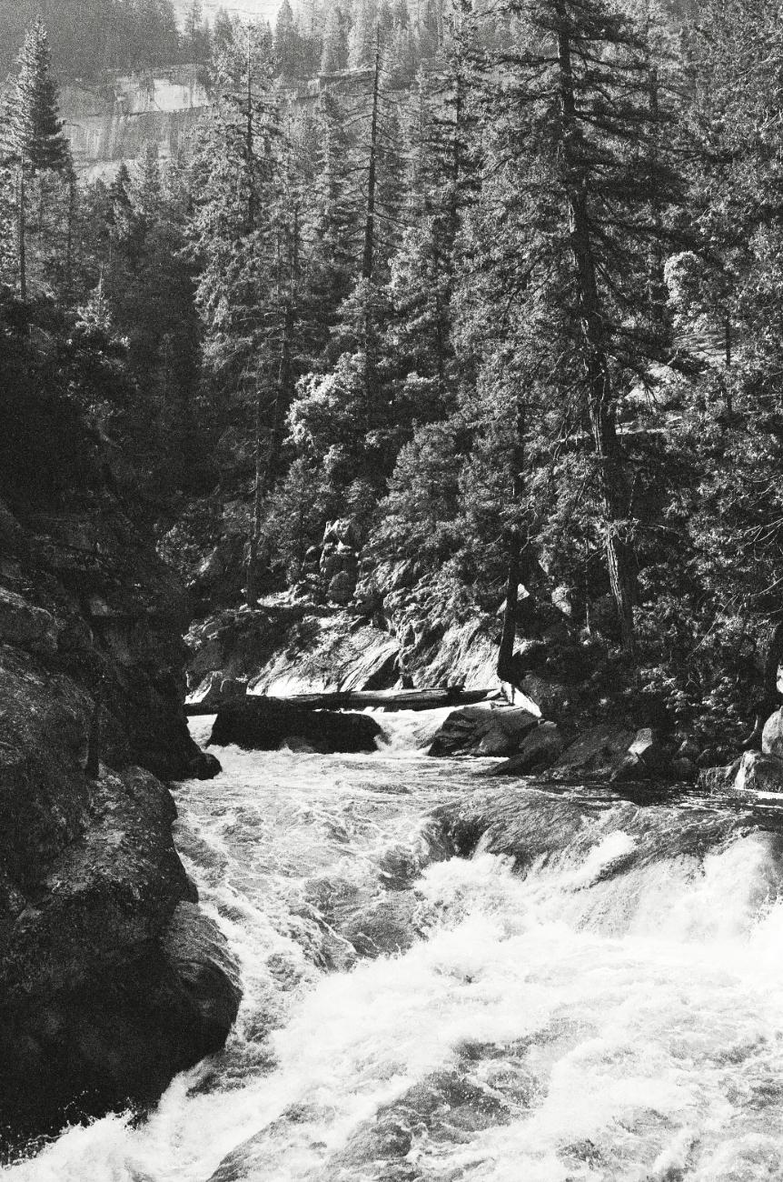 The Merced River running high