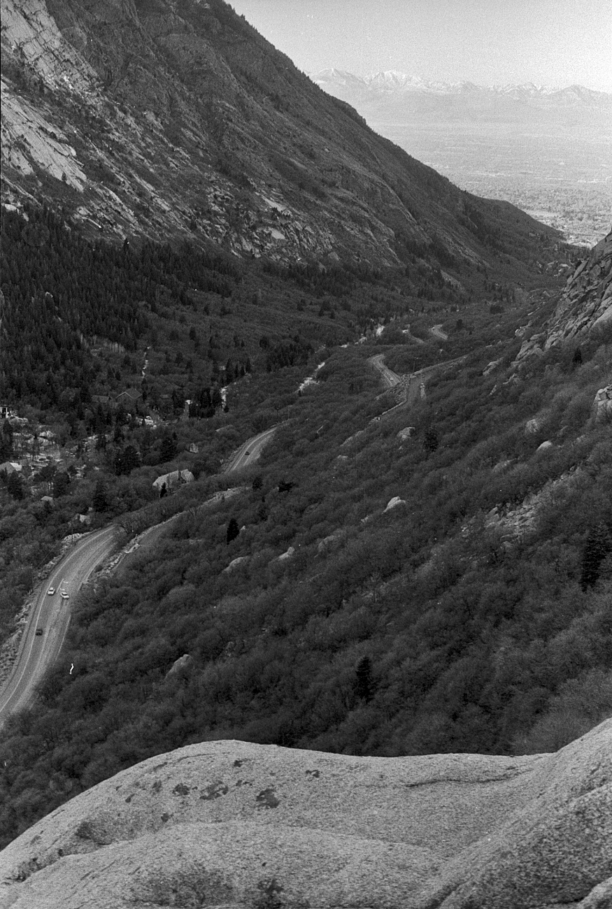 Little Cottonwood Canyon and the view towards the Salt Lake Valley