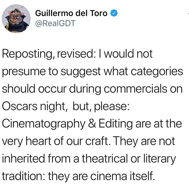 @theacademy I'm curious how the conversation went on which categories you were going to cut out of the ceremony, and these were the ones that were decided😏. There is still time to admit you made a mistake and fix it... #presentall24 #Oscars #cinematography