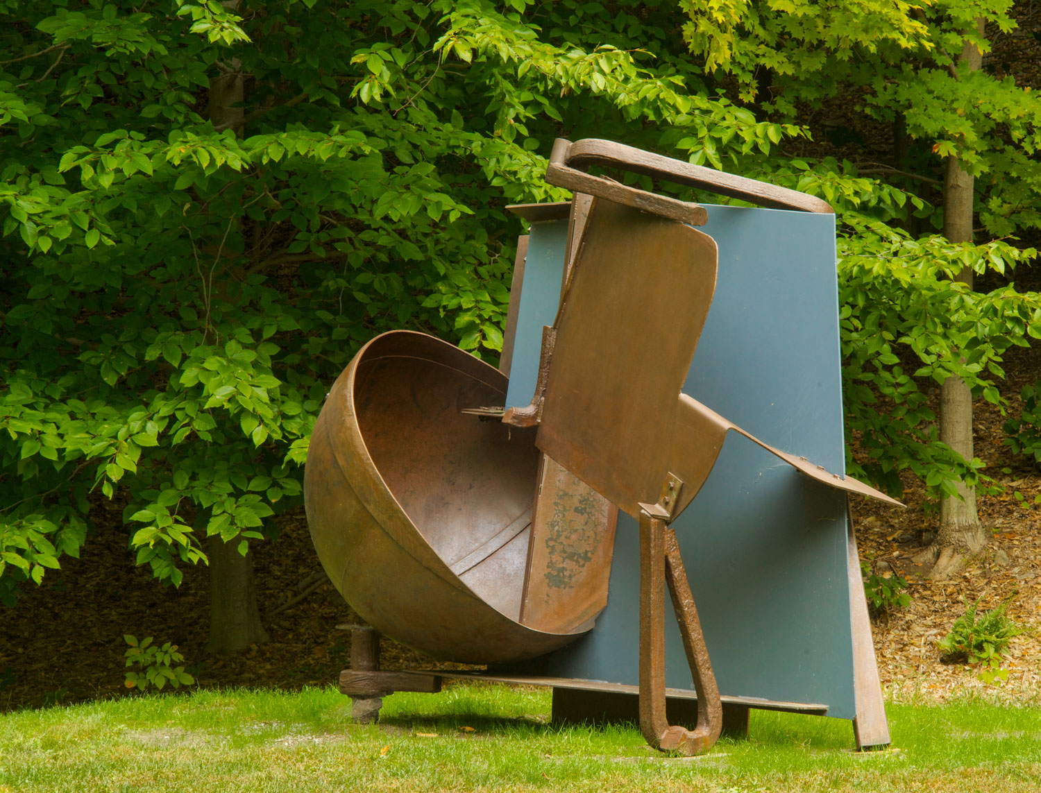 Anthony Caro, 1924-2013. Bitter Sky, 1983.Steel and painted steel. Gift of James H. Ottaway Jr., The Horace W. Goldsmith foundation, and the Ralph E. Ogden Foundation. Photograph by Jerry L. Thompson. ©Storm King Art Center, Mountainville, New York. Courtesy of Barford Sculpture Ltd.