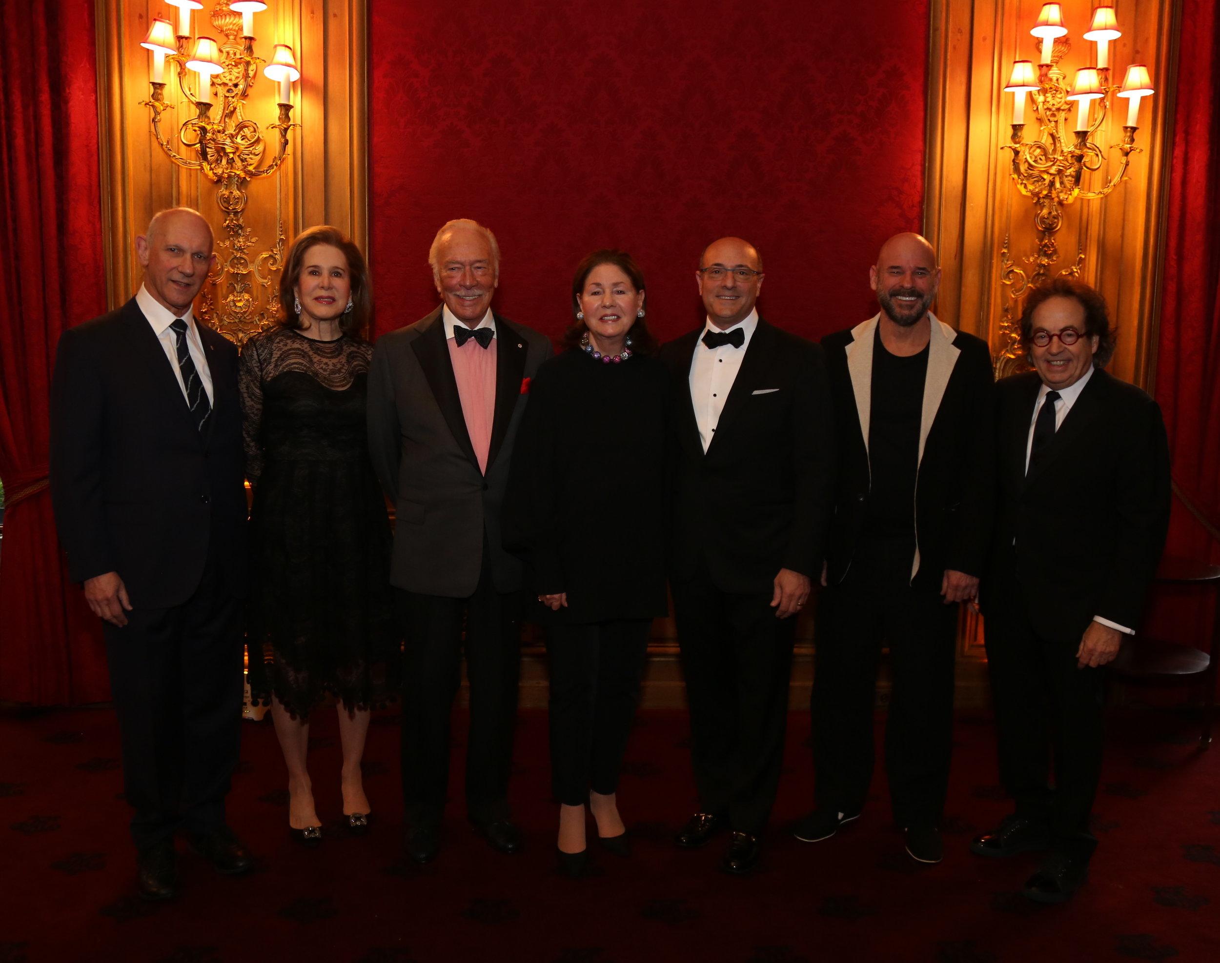 David Mirvish, Judy Ney, Christopher Plummer, Jo Carole Lauder, Martin Katz, Guy Laliberté, Jay Smith