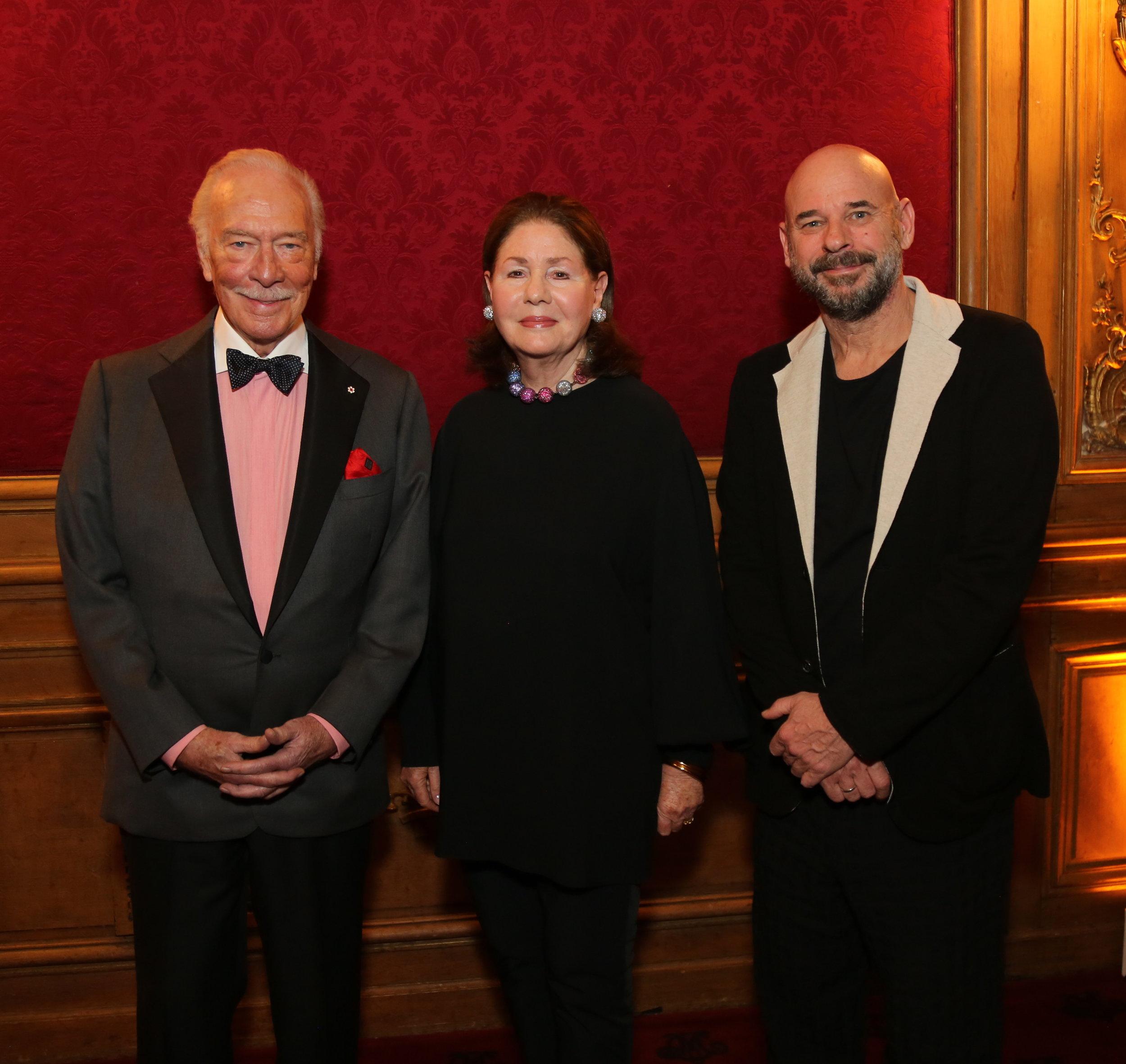 Christopher Plummer, Jo Carole Lauder, Guy Laliberté, 2019 Gala Honorees
