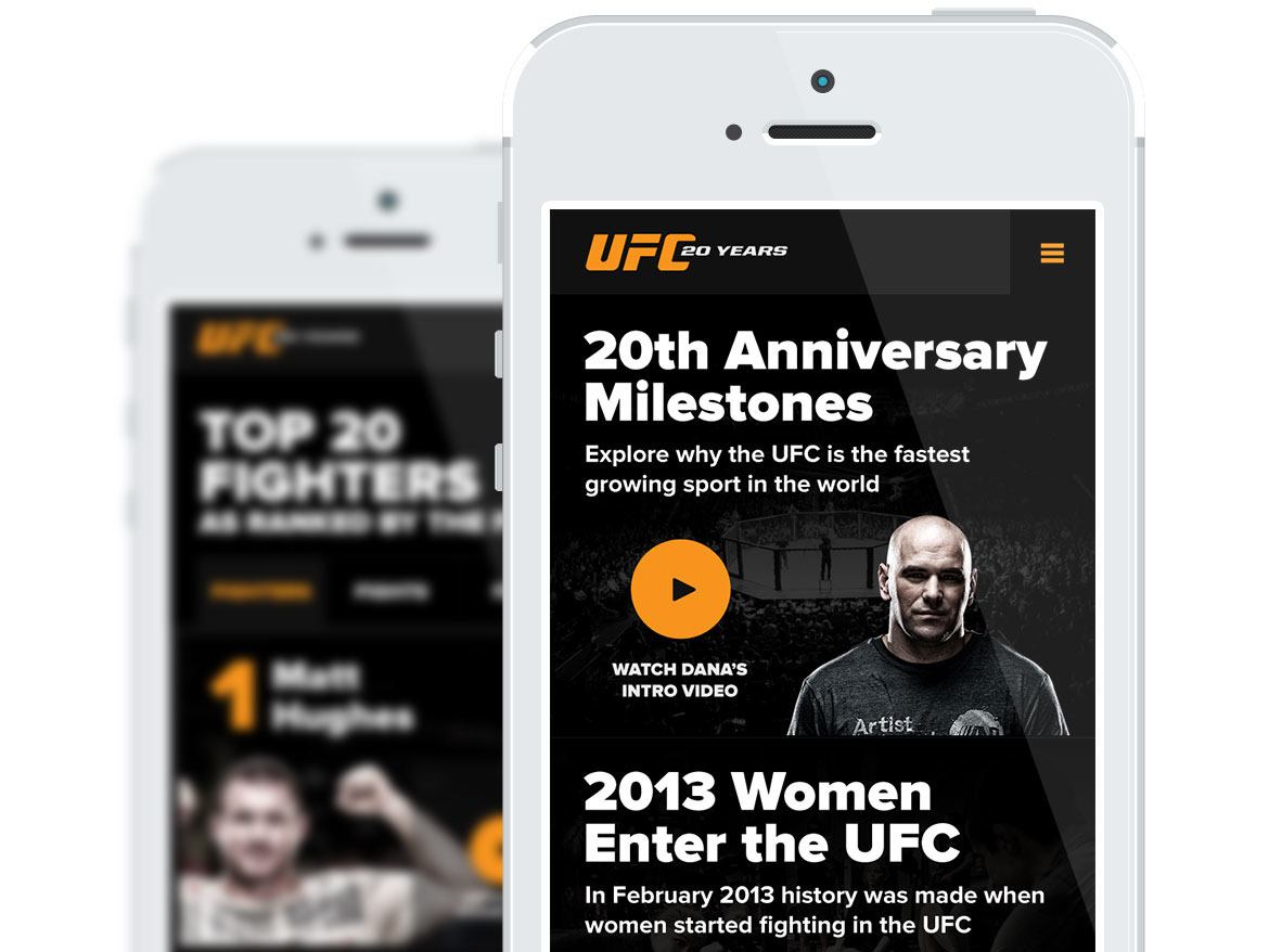 Objective: Reach. - UFC had a rich history and hard-core fan base. We provided the fuel to get loyal fans talking about their favorite fighter moments.