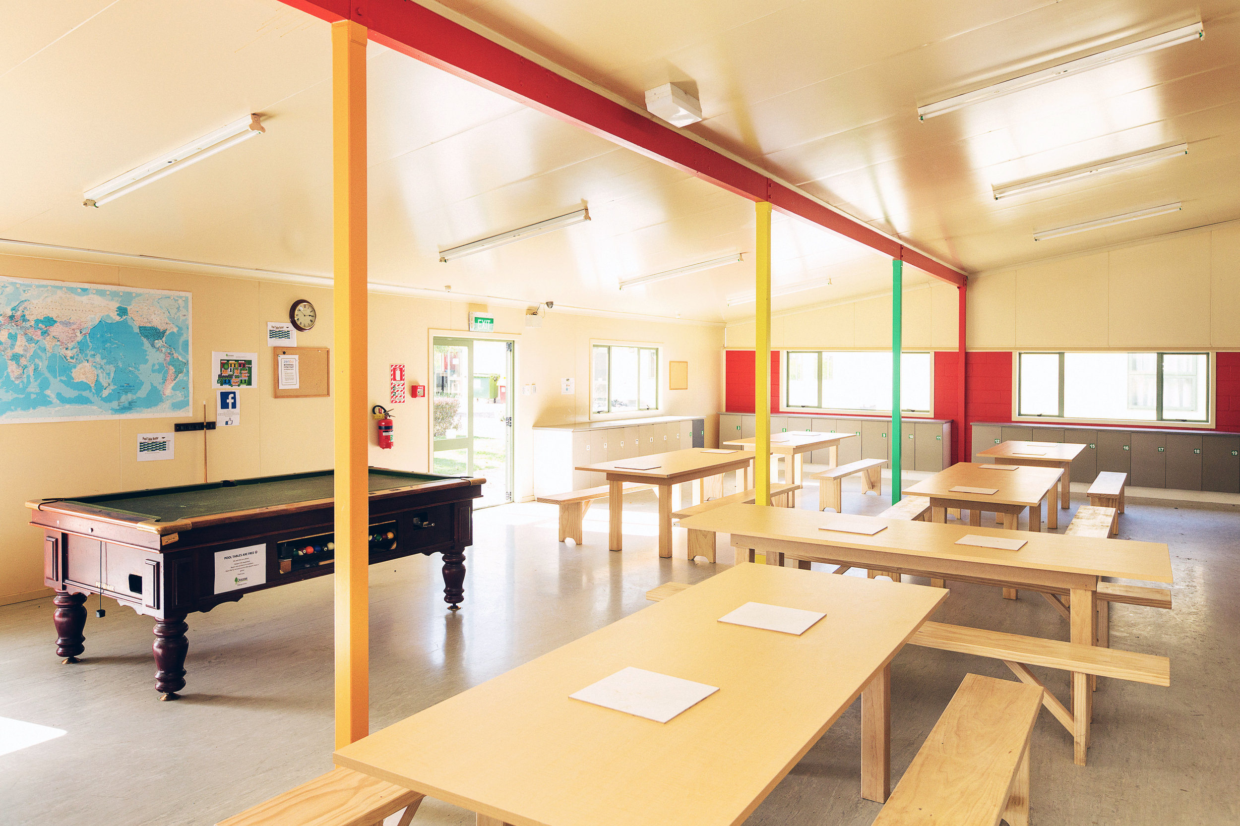 Two bright and spacious dining halls