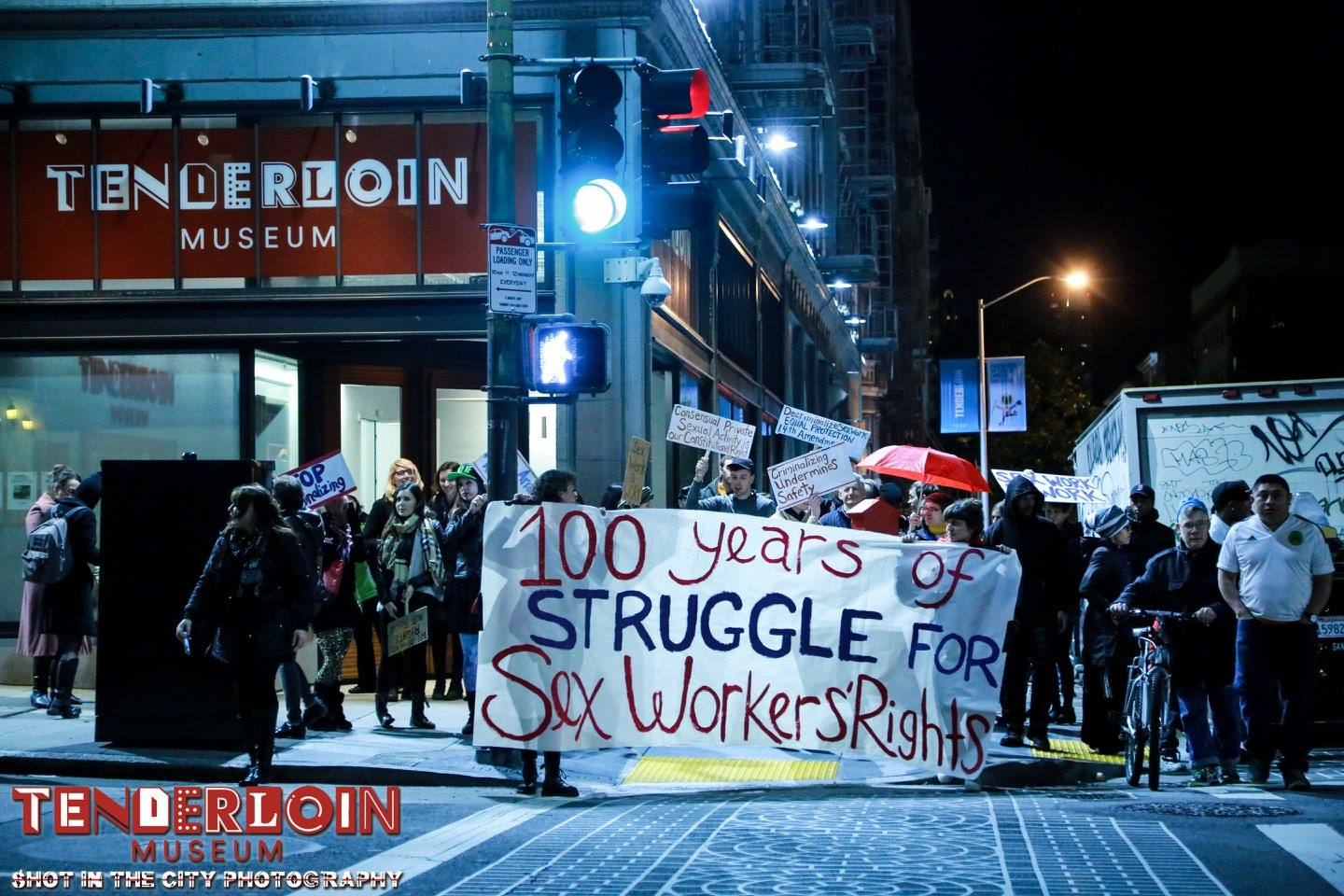 January 25th, 2017 sex workers' rights march, San Francisco, CA