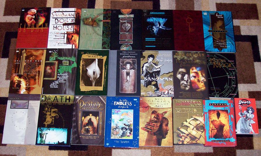 a pretty extensive     Neil Gaiman         collection