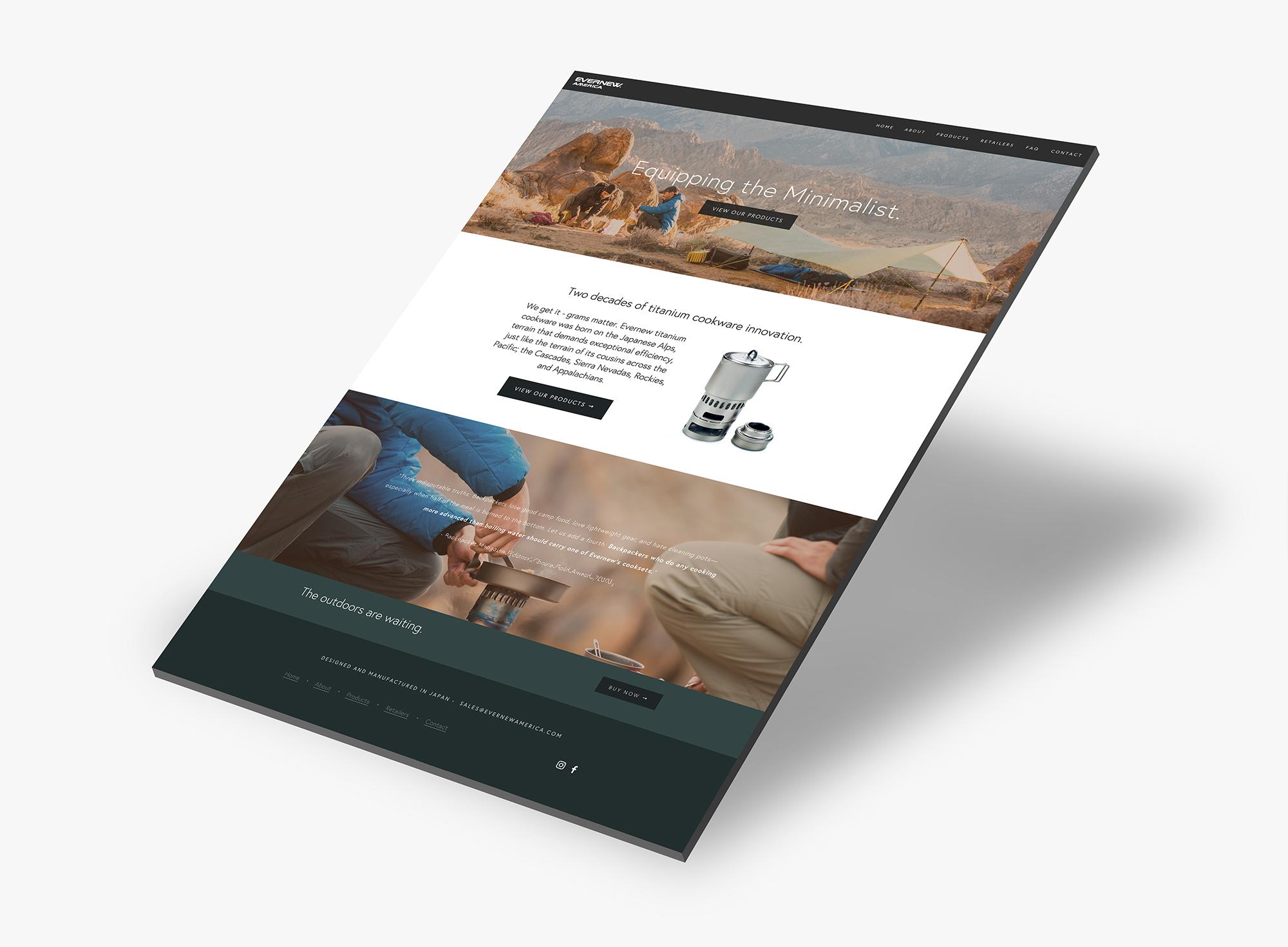 Evernew America Web Design