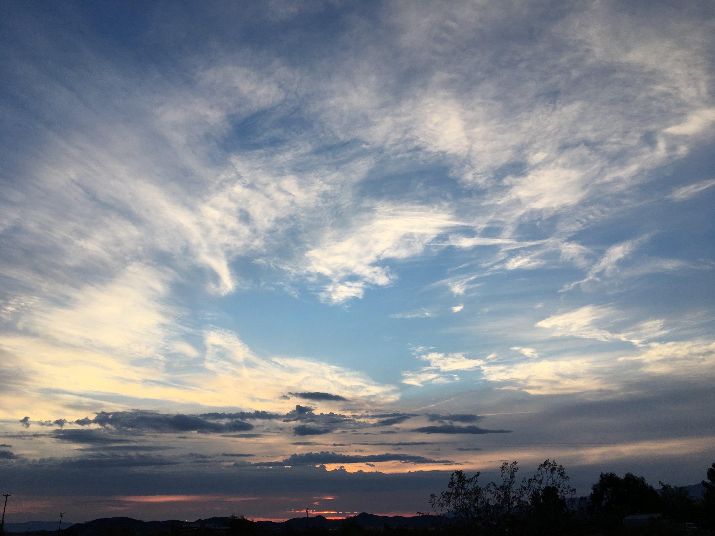 Beautiful Sunset on Day 1