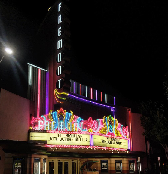 The live taping of the Nightcap's second episode took place at the historic Fremont Theatre in San Luis Obispo, CA