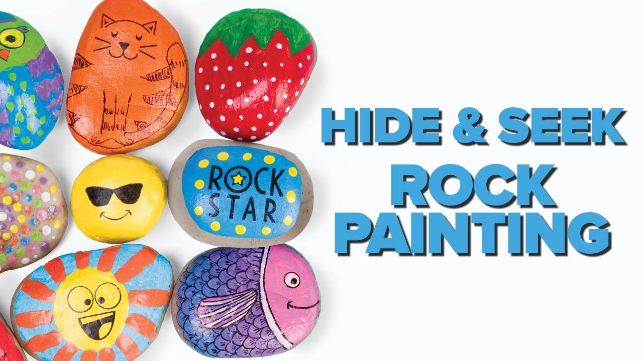 Hide and Seek Rock Painting: 4/10/18