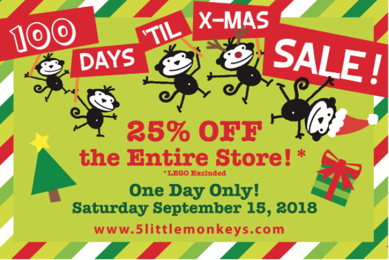 Sale at Five Little Monkeys