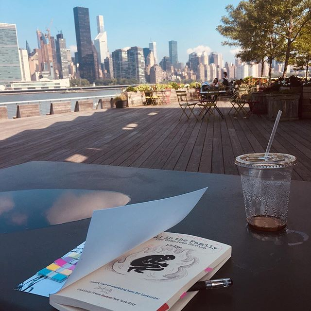 Cute day on the waterfront to edit a very non-cute book. (LB Lee's 'All in the Family,' coming to emotionally devastate you very soon.)