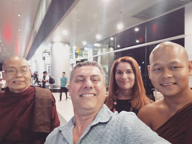It was a real honour to be met at the airport by the Ven Sundara, who we know as the Chief monk of the Myanmar Temple in Anuradhapura. After 2 decades, he's now Chief Monk of a monastery in his home town in Myanmar, and we'll be meeting the new Chief Monk, who we know, tomorrow. We're really looking forward to going to the temple and working on projects with a Civil Society Organisation to teach English, and German to support development here. If you'd like to know more about volunteering with us, contact us.