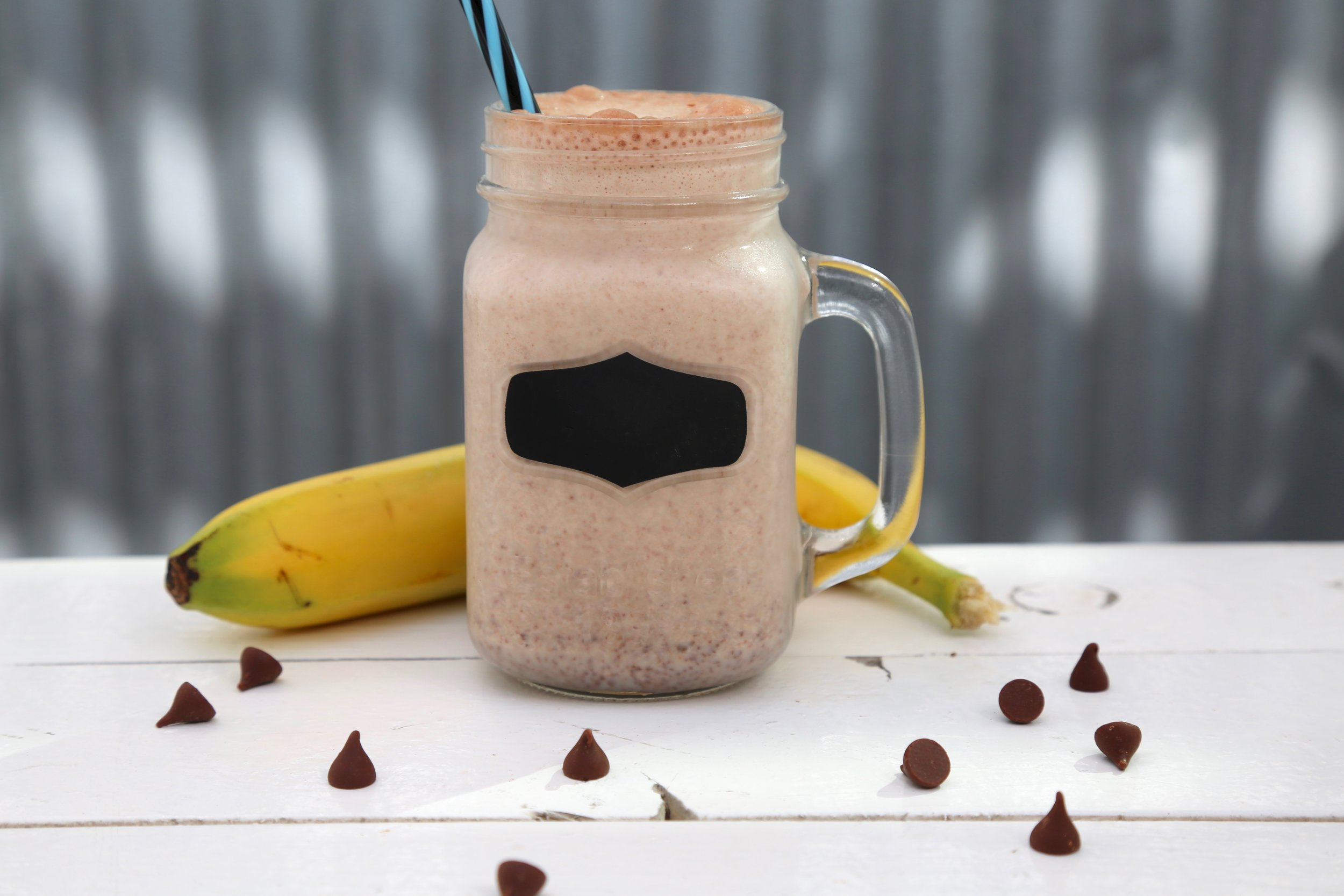 When Bananas Go Black : Banana, yogurt, chocolate chips, milk & honey
