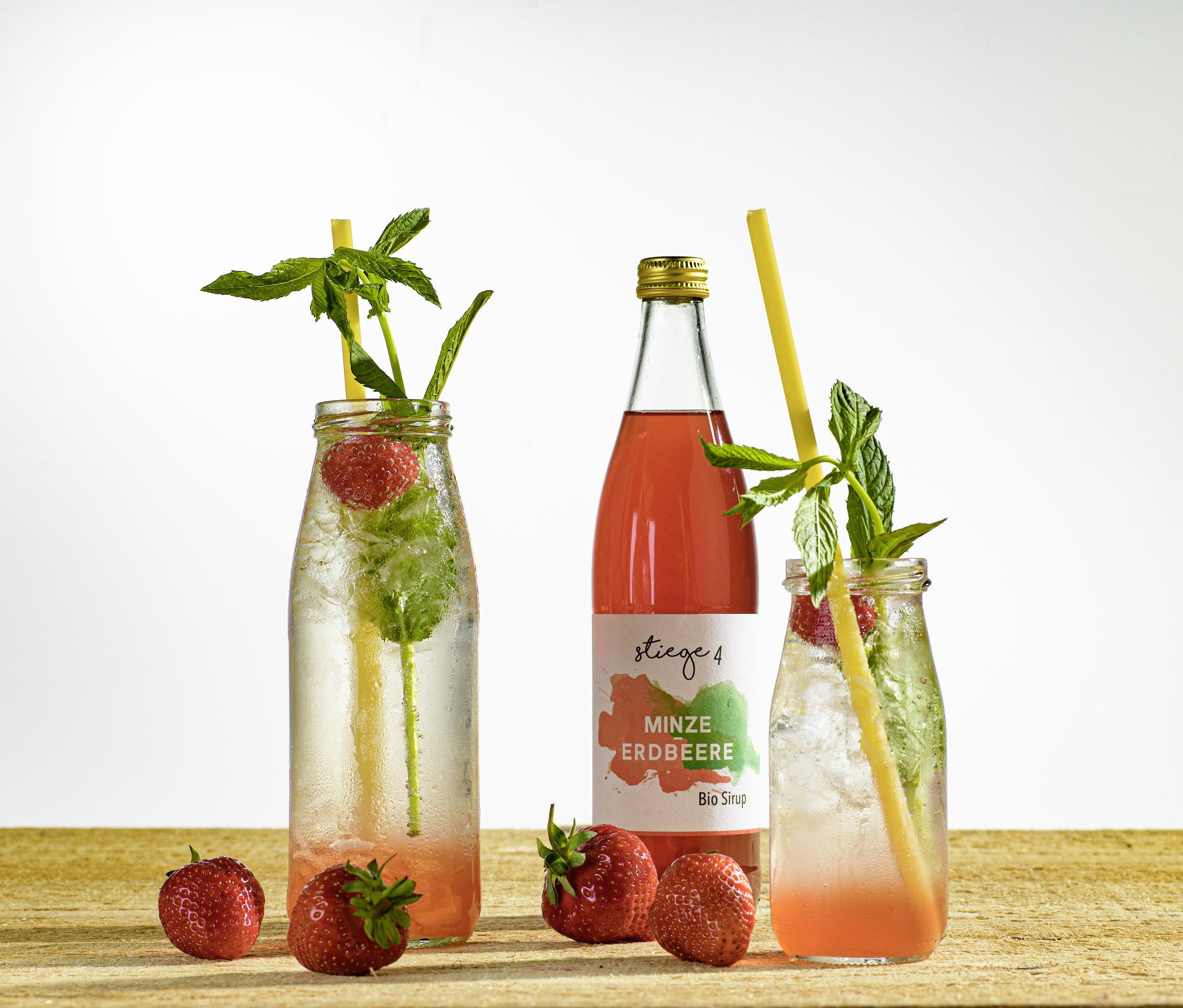 Minze-Erdbeere BIO Sirup -