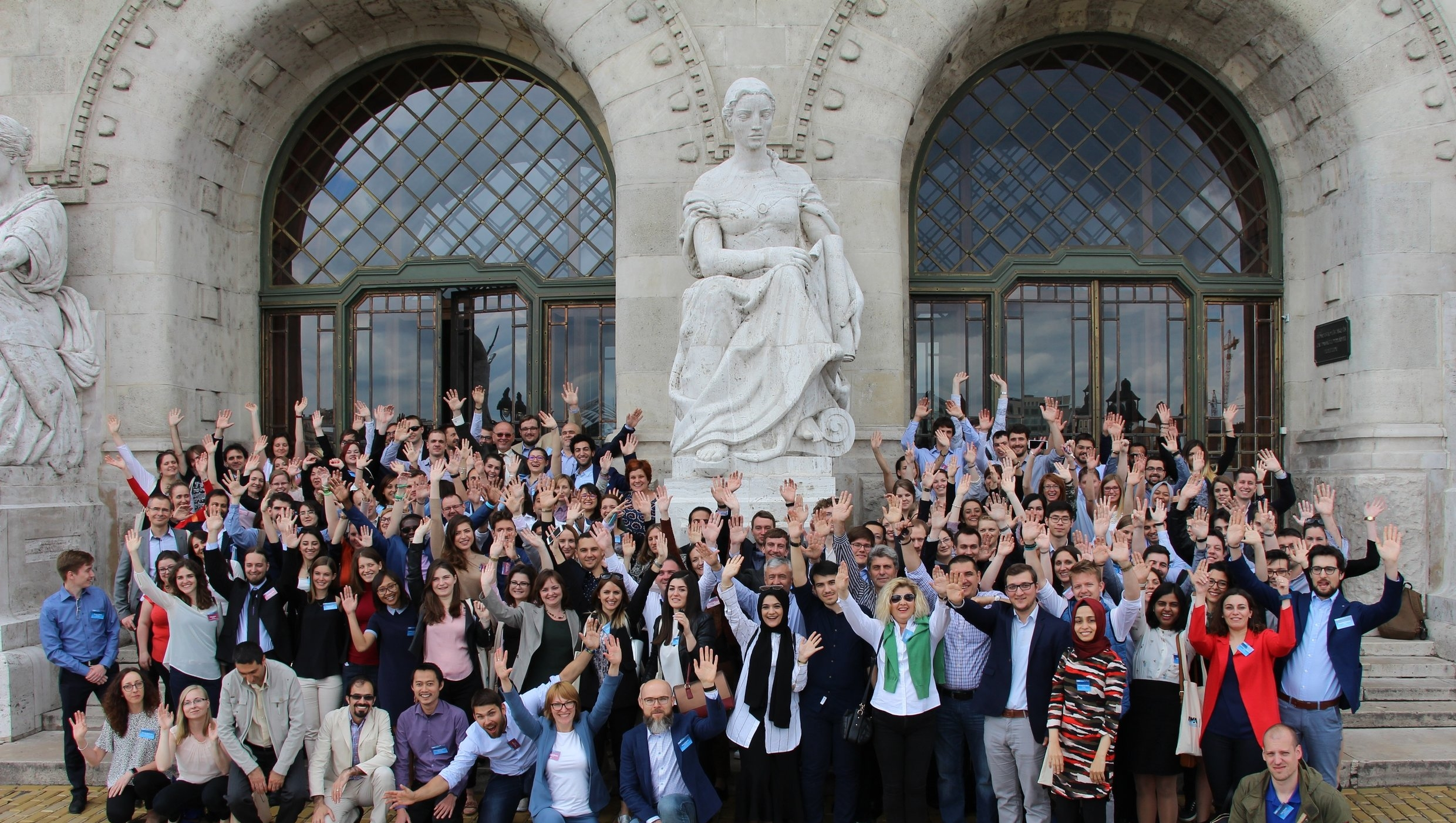 Attendees of 9th Eastern European IWA conference at Budapest University of Technology & Economics