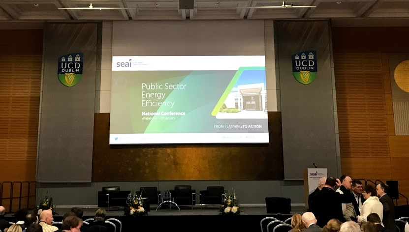 Fig.1 Public Sector Energy Efficiency National Conference in O'Reilly Hall at University College Dublin (UCD)