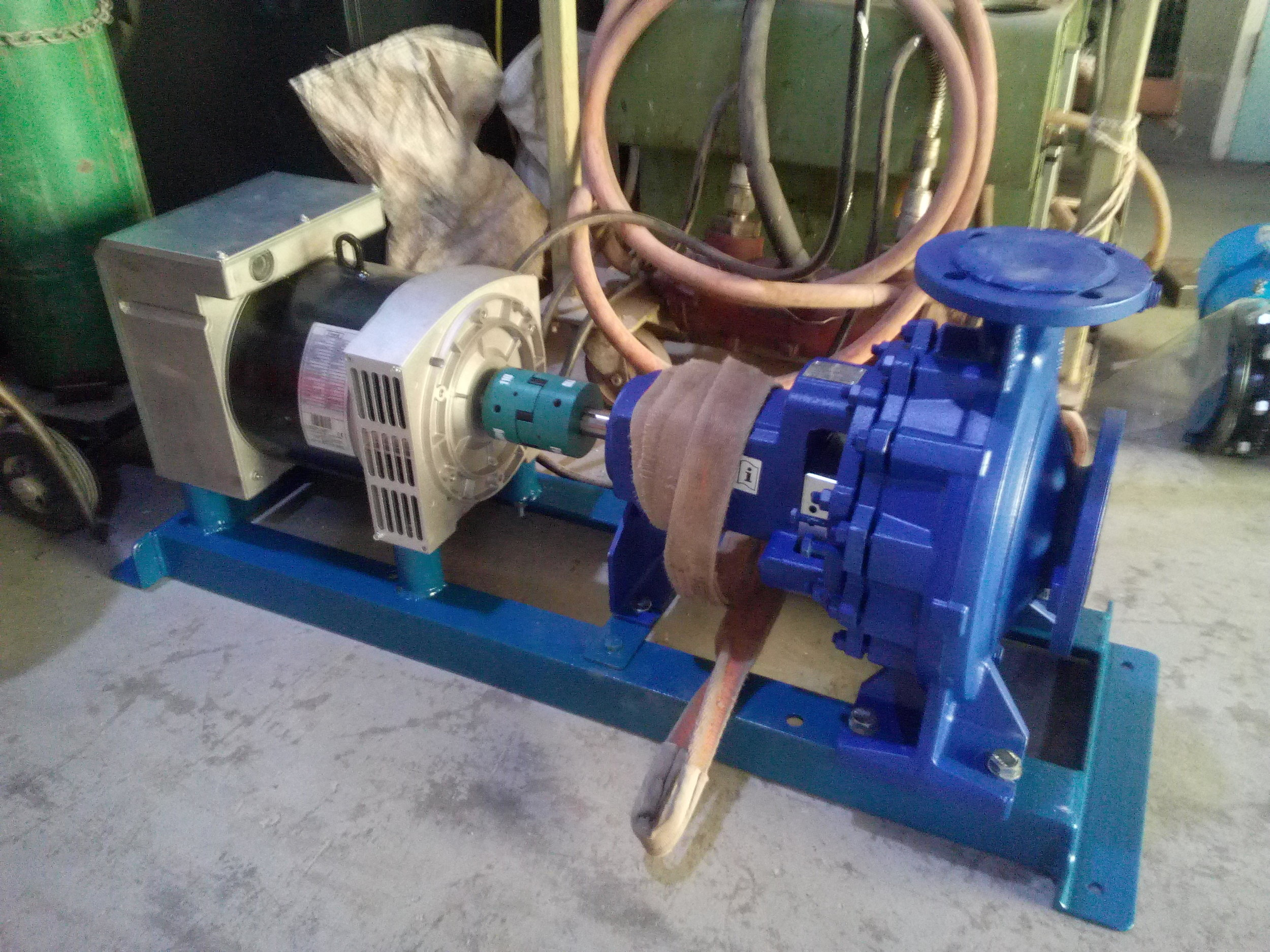 Picture of the assembled turbine ready for transport.