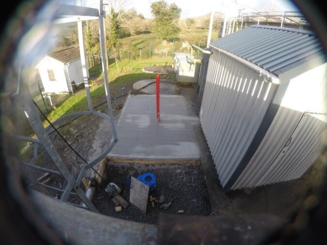 Casting of the concrete slab extension