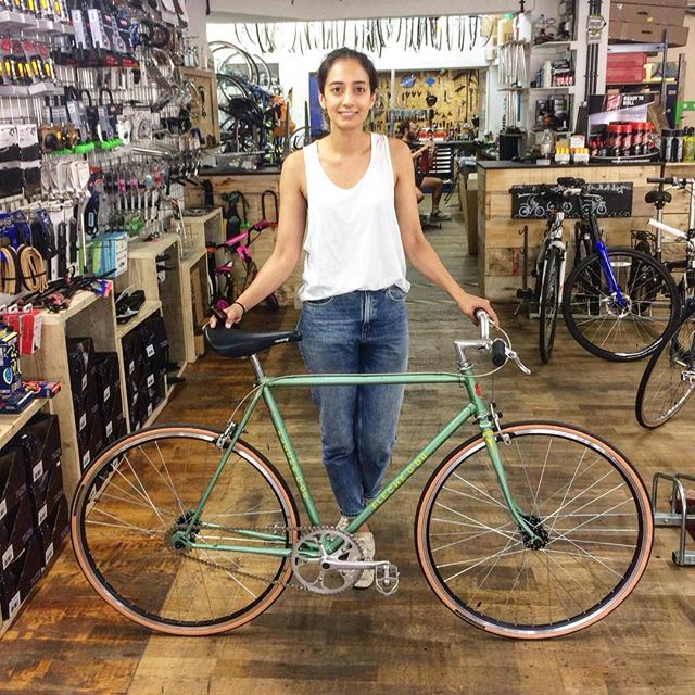 Selina and her Fleche D'or  #selina #singlespeed #saturday