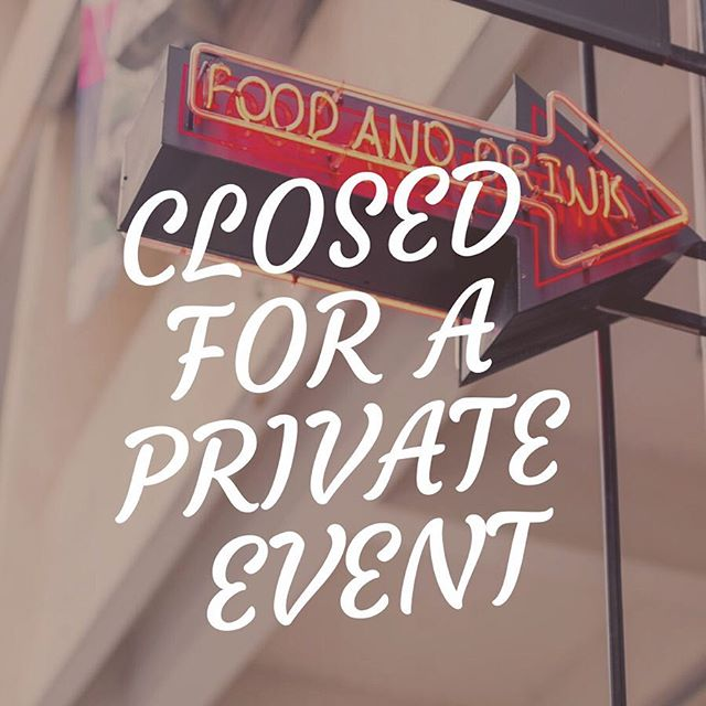 Update: We're open for lunch service today, but we'll be closed from 3.30pm onwards for a private dinner event. Sorry for the inconvenience! Business is back to normal tomorrow and for the weekend 😊