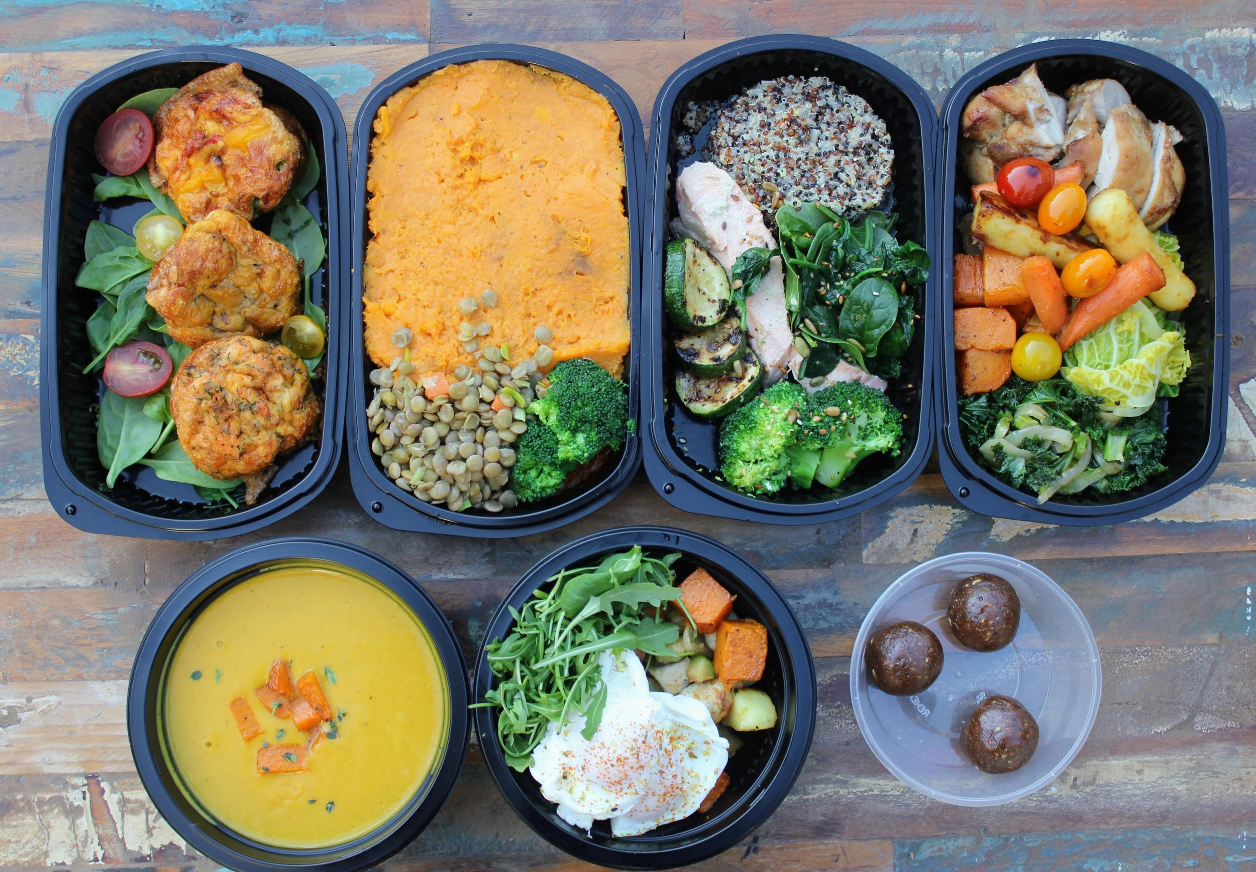 A selection of Energise Plan meals