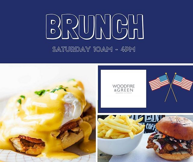 Woodfire and Green - Making BRUNCH Great Again! Drop into our New York style Eatery for the Best Brunch in Town this  and every Saturday ❤ 10am - 4pm ️#brunch #bestbrunchintown #eggsbenedict #dirtyburger #hungoverfood #bubbles #chickenwings #gourmetpizzas #bacon #