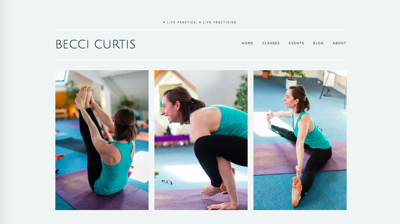 YOGA TEACHER WEBSITE