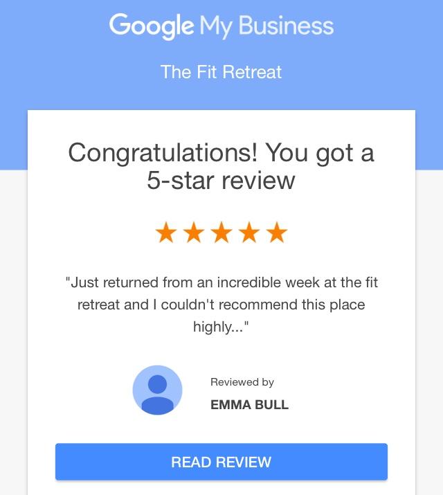 The Fit Retreat Google Reviews
