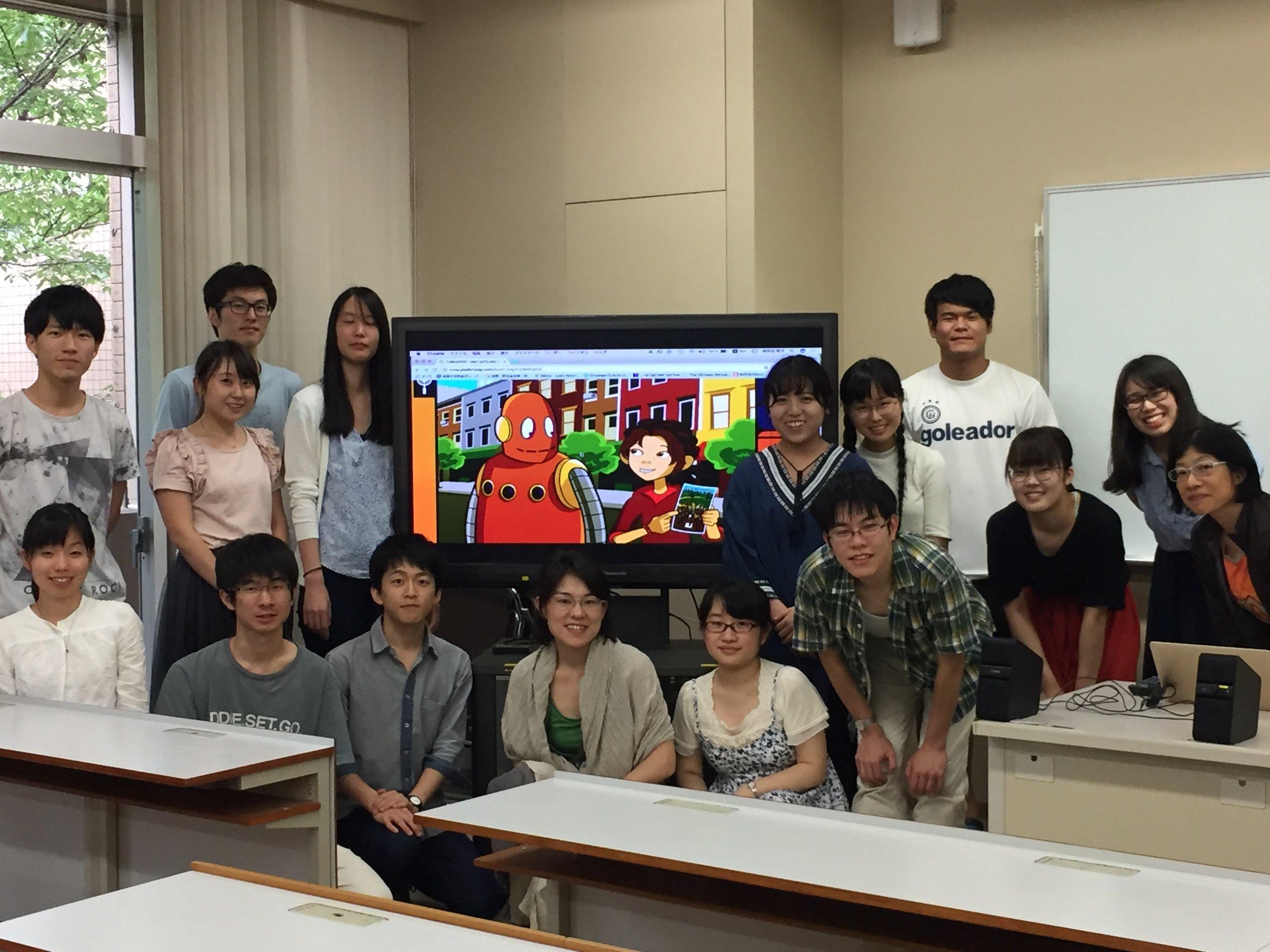 Satoko and students.jpg
