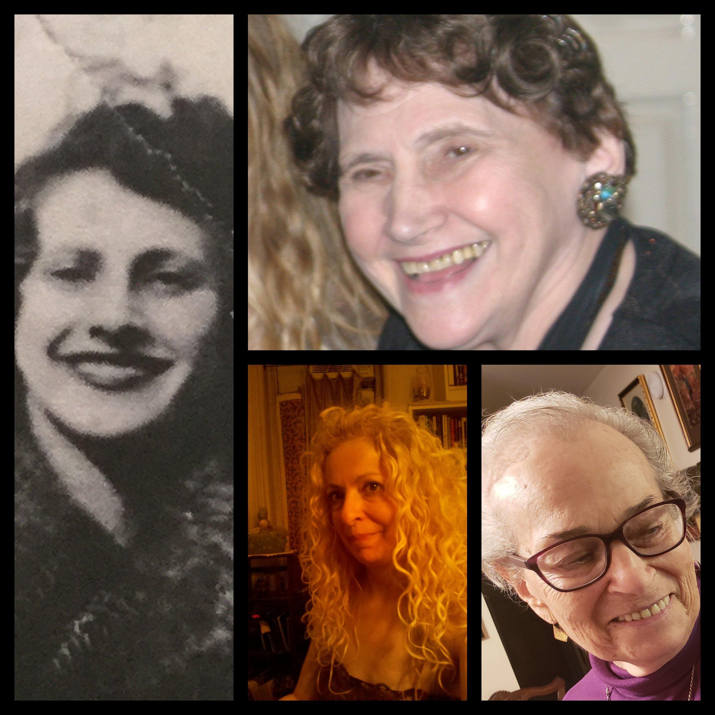 Left and Top: Troim Katz Handler, Bottom Left: Shoshke-Rayzl Yuni, Bottom Right: Perl Krupit