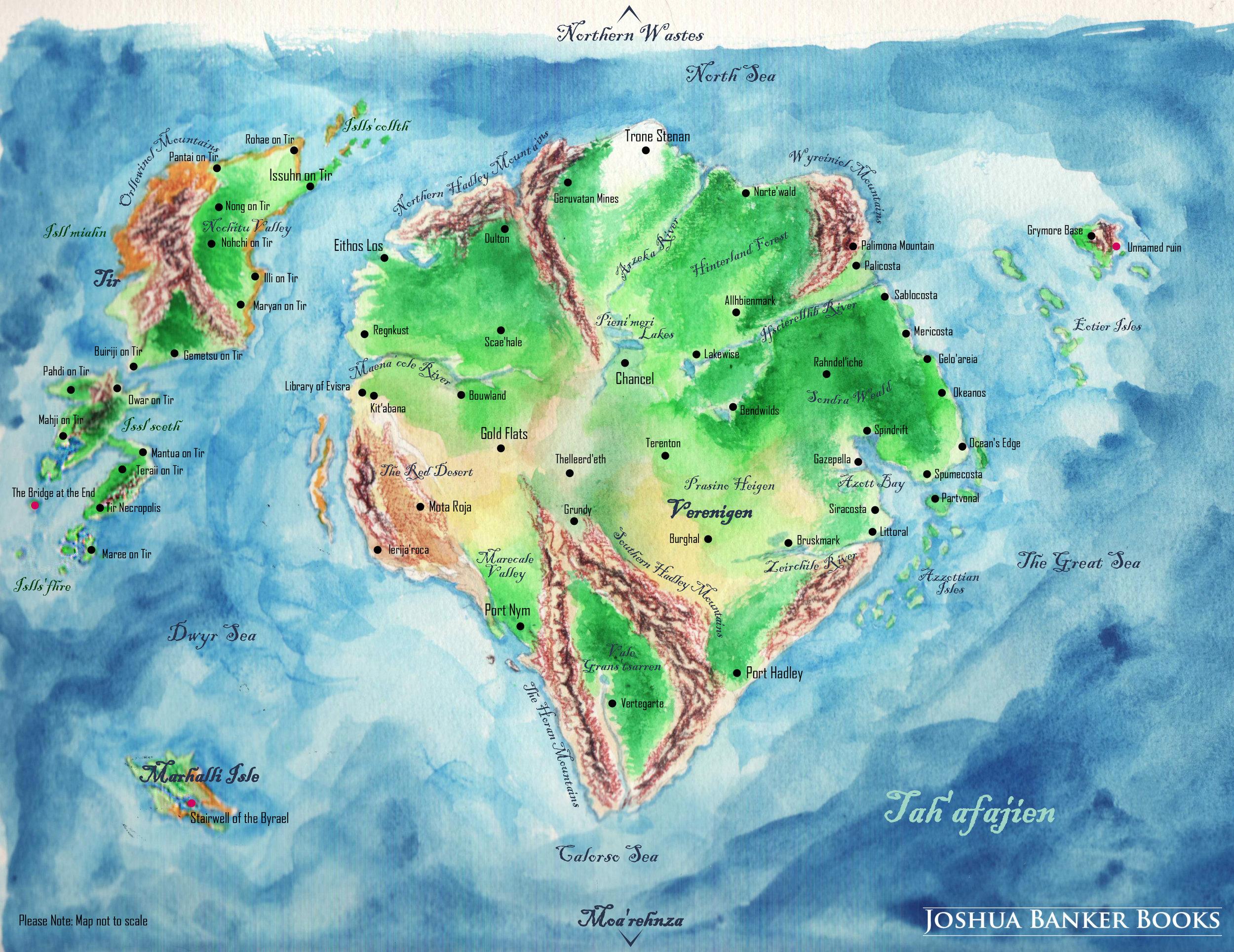 Map of Verenigen and Tir