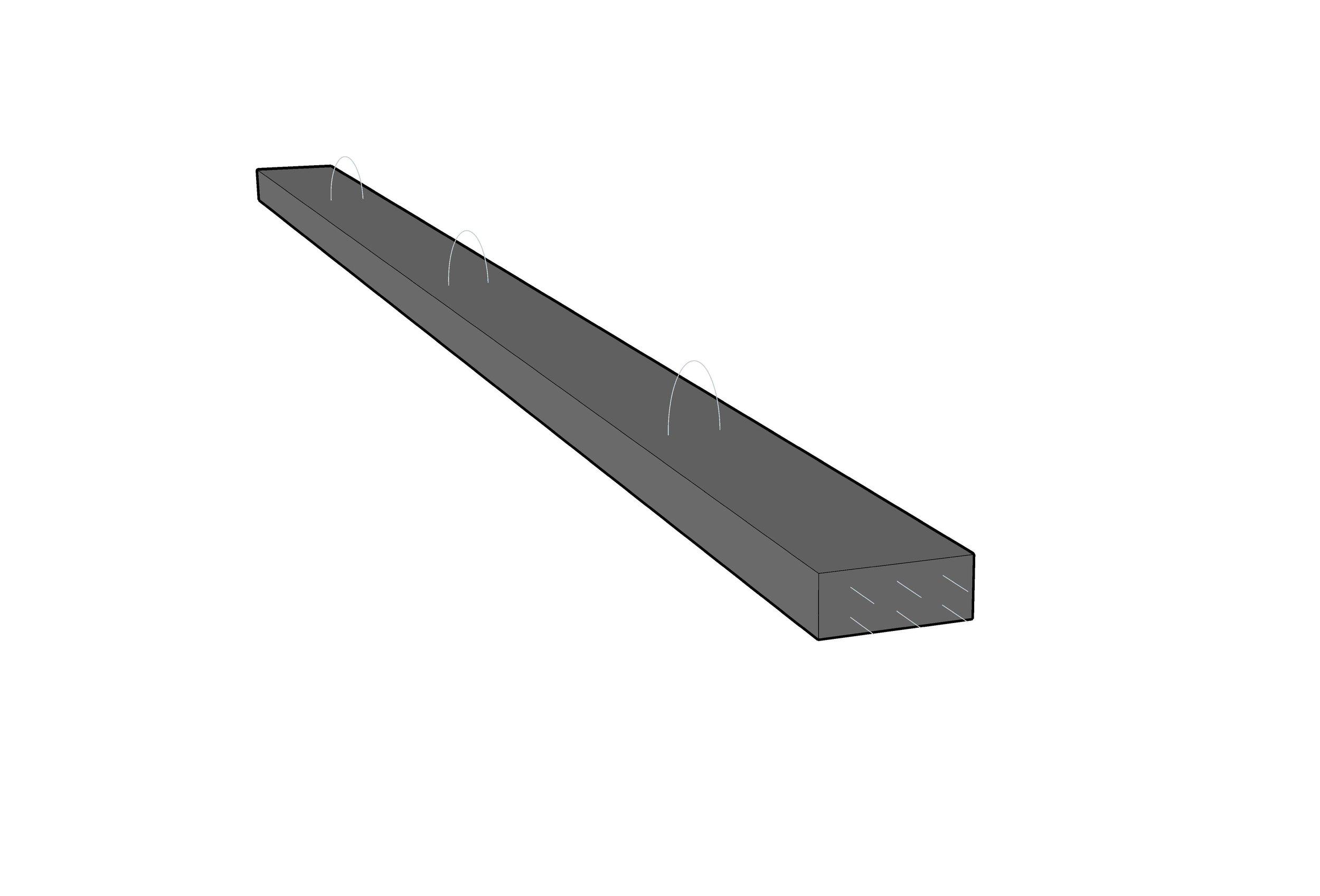 Pre-Stressed concrete lintol