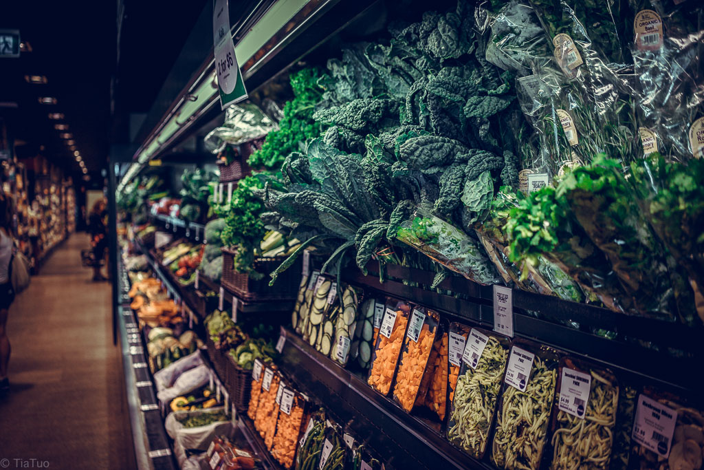 Organic vegetables at About Life Port Melbourne