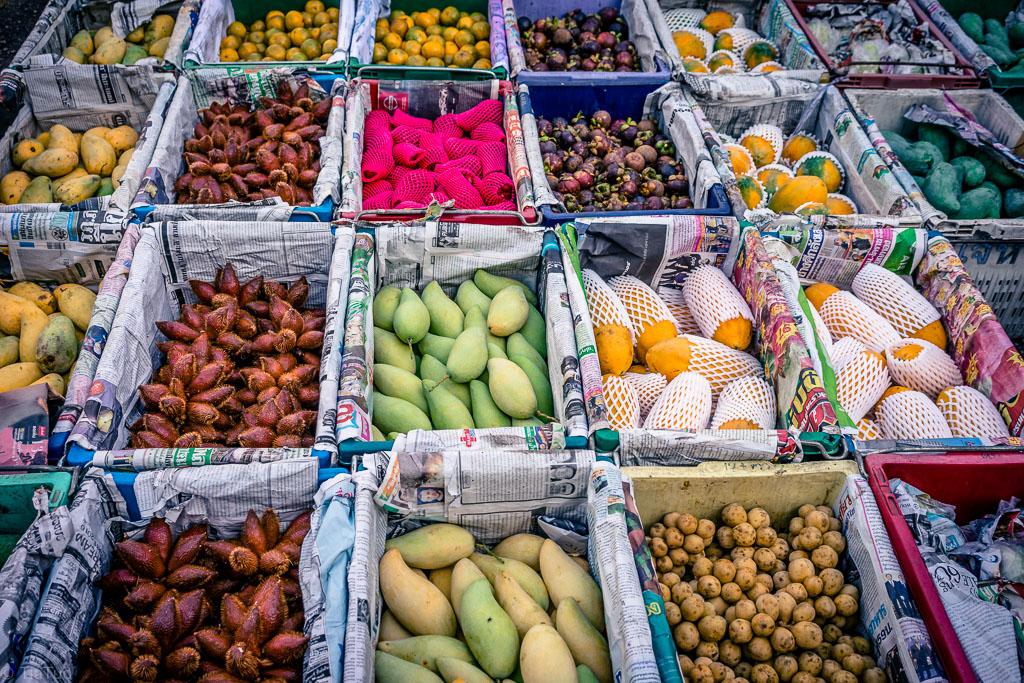 Fruits in morning food market
